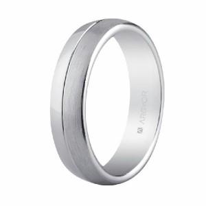 Alianza de plata ancha para boda -