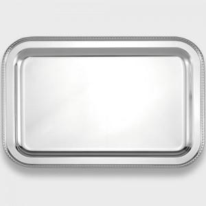 Bandeja plata rectangular perlas -