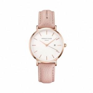 Reloj mujer extraplano acero rosa y correa rosa -