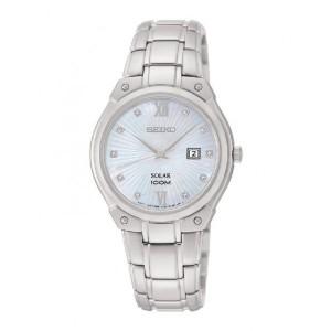 Reloj Seiko solar para mujer 10 diamante -