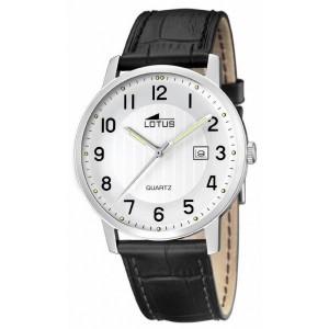 Reloj Lotus cuero negro indicadores luminiscentes - 15620/1