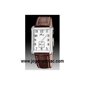 Reloj Lotus caballero acero correa marrón - 15628/1