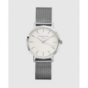 Reloj acero mujer extraplano malla milanesa -