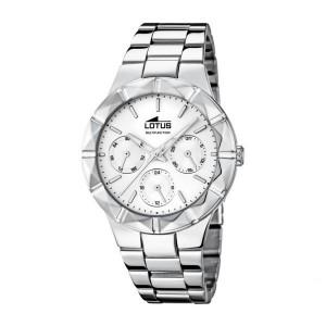 Reloj Lotus multifunción acero -