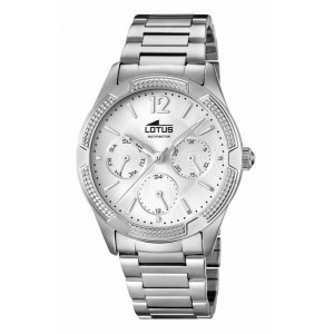 Reloj Lotus multifunción acero señora -