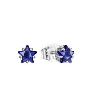 Pendientes estrella azul plata - 21008E000-33