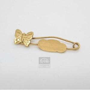 Alfiler de oro forma mariposa para bebé - 360564-54755