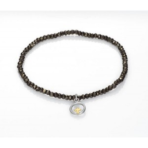 Pulsera colgante cruz mini cristales pla - 4017P100-40