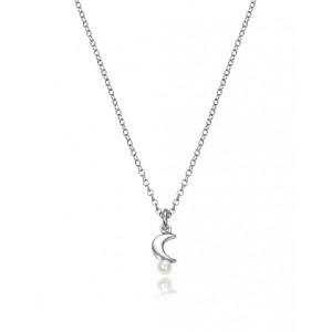 Colgante y pendientes luna plata para niña - 4070K000-06