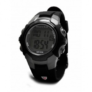 Reloj Athletic digital niña niño caucho negro -