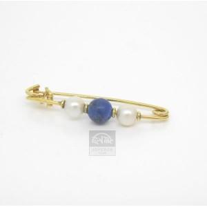 Alfiler bebe oro y perlas naturales - 470202,3