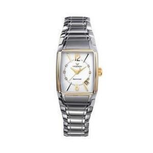 Reloj acero y oro seis brillantes - 47354-05