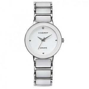 Reloj Viceroy acero y cerámica blanca - 47672-07