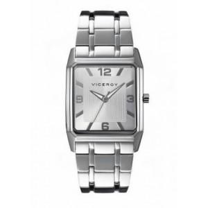 Reloj Viceroy rectangular acero clásico caballero - 47735-05
