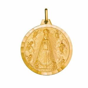 Medalla oro Virgen de Begoña bautizo -