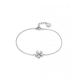 Pulsera flor plata y circonitas - 71017P000-38