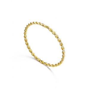 Anillo fino espiral oro amarillo -