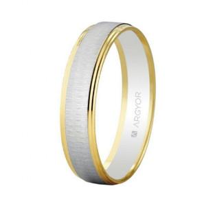 Alianza oro bicolor mate brillo - 5245466