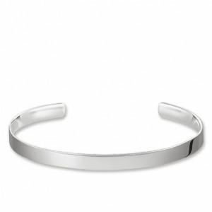 Pulsera brazalete plata -