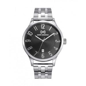 Reloj acero esfera negra brazalete - HM7145-55