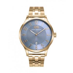 Reloj acero dorado esfera azul - HM7145-35