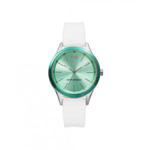 Reloj acero verde turquesa caucho blanco - MC7107-67