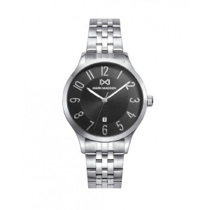 Reloj mujer esfera negra brazalete acero - MM7141-55