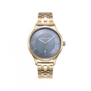 Reloj mujer esfera azul acero dorado - MM7141-35