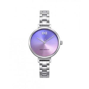 Reloj mujer esfera lila degradé acero - MM7138-70
