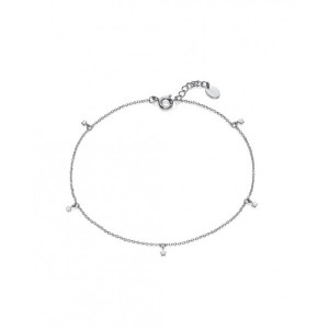 Tobillera colgantes mini estrellas plata - 61058T000-08