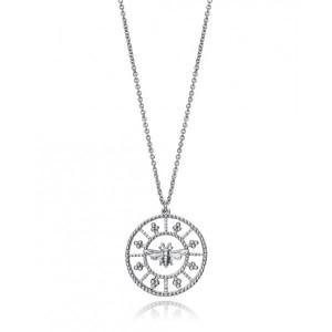 Collar medallón abeja plata - 61021C000-08