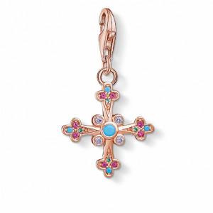 Charm Thomas Sabo cruz plata rosa multicolor -
