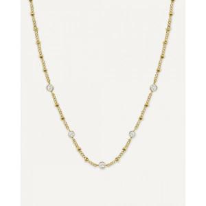 Collar cristales Swarovski acero oro -
