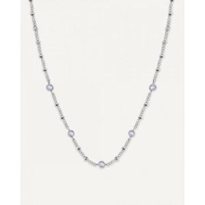Collar fino con cristales Swarovski acero -