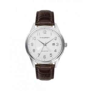 Reloj acero correa marrón para hombre - 401207-05