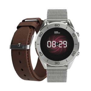 Reloj Smart Watch con brazalete y correa marrón -