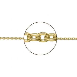 Cadena oro 18k. forma rolo cierre tipo mosquetón -