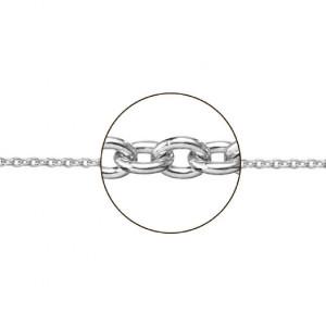 Cadena oro blanco 18 k. forma rolo 45 cm. -