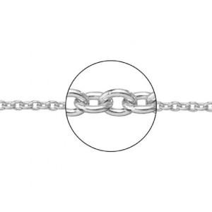 Cadena oro blanco 18 k. forma rolo -