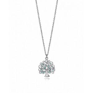 Colgante árbol de la vida azul plata - 1326C100-38