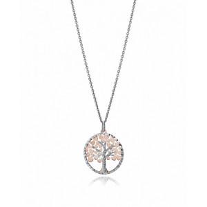 Colgante árbol de la vida plata oro rosa y plata - 1325C100-39