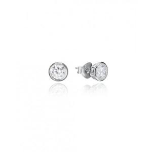 Pendientes pequeños circonita plata - 5087E000-06