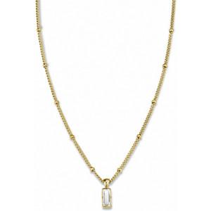 Colgante baguette Swarovski  acero oro -