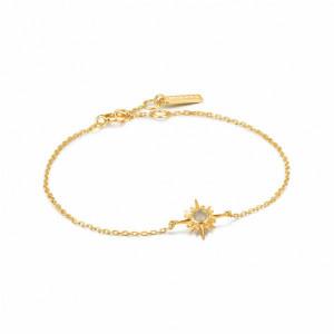 Pulsera fina estrella polar plata oro -
