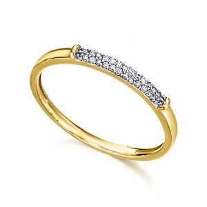 Anillo pavé diamantes oro -