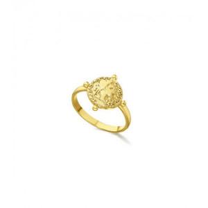 Anillo moneda plata oro -