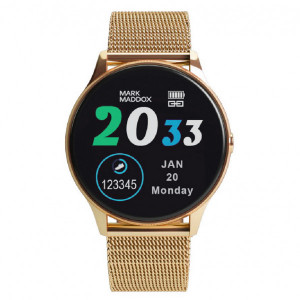 Reloj Smart Watch dorado brazalete correa -