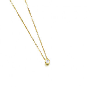 Diamante con cadena oro amarillo -