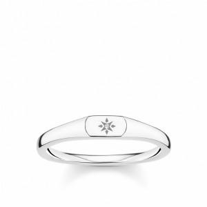 Anillo sellito estrella plata - TR2122-001-12-52