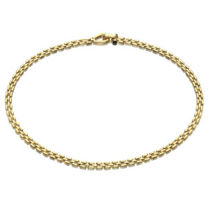 Collar panther plata oro -